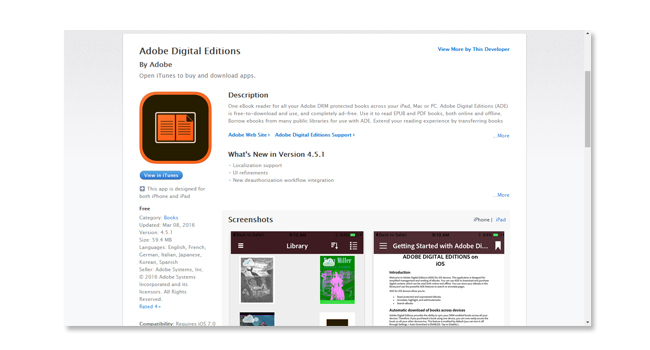 adobe digital editions Apple